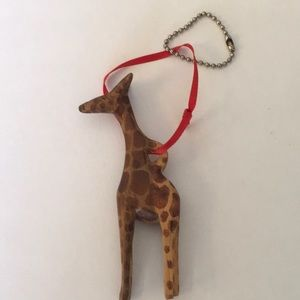Wooden Giraffe Key Chain